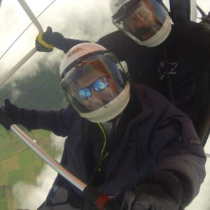 Soaring the clouds on the first day of my training, UK, Aug 2014
